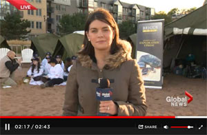 Red Cross Cold Campout 2013 - Global News Coverage